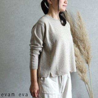 evam eva(エヴァム エヴァ)【2019aw新作】ウールプルオーバー ベージュ / wool pullover beige  E193K103