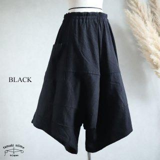 tamaki niime(タマキ ニイメ) 玉木新雌  きぶんシリーズ 11月 ダックス ブラック wool70% cotton30% / ウールベーシック