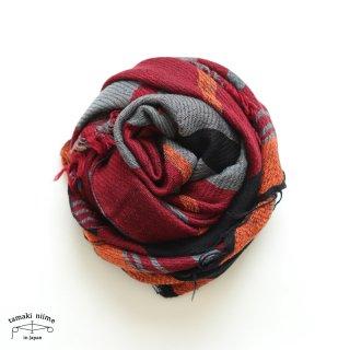 tamaki niime 玉木新雌 roots shawl wool middle RSM_W109/ ルーツショール ウール70% コットン30% ミドルサイズ