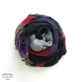 tamaki niime 玉木新雌 roots shawl wool middle RSM_W108/ ルーツショール ウール70% コットン30% ミドルサイズ