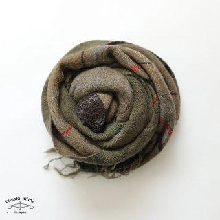 tamaki niime 玉木新雌 roots shawl wool middle RSM_W107/ ルーツショール ウール70% コットン30% ミドルサイズ