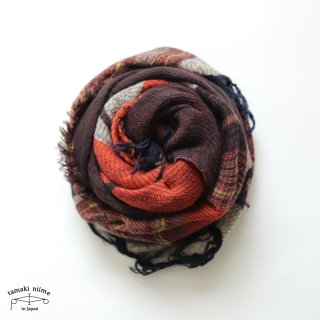 tamaki niime 玉木新雌 roots shawl wool middle RSM_W106/ ルーツショール ウール70% コットン30% ミドルサイズ