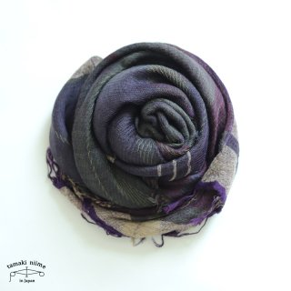 tamaki niime 玉木新雌 roots shawl wool middle RSM_W102/ ルーツショール ウール70% コットン30% ミドルサイズ
