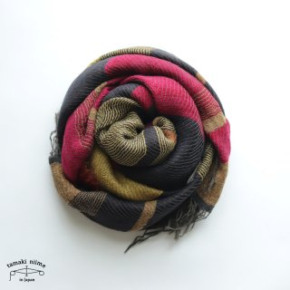 tamaki niime 玉木新雌 roots shawl wool middle RSM_W117/ ルーツショール ウール70% コットン30% ミドルサイズ