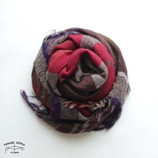 tamaki niime 玉木新雌 roots shawl wool middle RSM_W113/ ルーツショール ウール70% コットン30% ミドルサイズ
