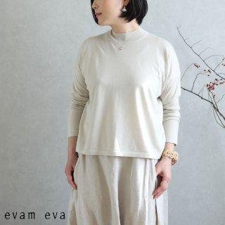 evam eva(エヴァム エヴァ)【2020ss新作】 ライジングヤーンプルオーバー / raising yarn pullover ecru(11) E201K014