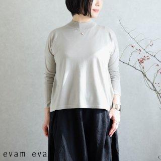 evam eva(エヴァム エヴァ)【2020ss新作】 ライジングヤーンプルオーバー / raising yarn pullover light gray(82) E201K014