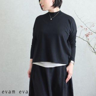 evam eva(エヴァム エヴァ)【2020ss新作】 ライジングヤーンプルオーバー / raising yarn pullover sumi(98) E201K014