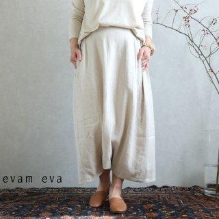 【再入荷】evam eva(エヴァム エヴァ) vie【2020ss新作】サイドタック サルエルパンツ / sarrouel pants antique white(04)  V201T903