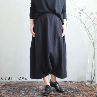 evam eva(エヴァム エヴァ) vie【2020ss新作】サイドタック サルエルパンツ / side tuck sarrouel pants black(90)  V201T903