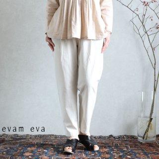 evam eva(エヴァム エヴァ) 【2020ss新作】イージータックパンツ / easy tuck pants ecru(11)  E201T076