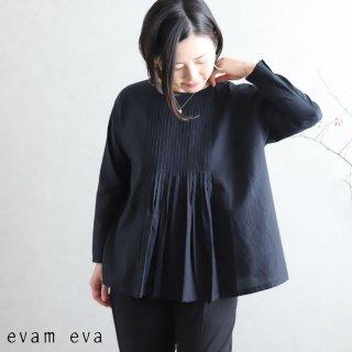 evam eva(エヴァム エヴァ)【2020ss新作】 ファインプリーツプルオーバー / fine pleats pullover black(90) E201T073