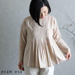 evam eva(エヴァム エヴァ)【2020ss新作】 ファインプリーツプルオーバー / fine pleats pullover ocre(16) E201T073