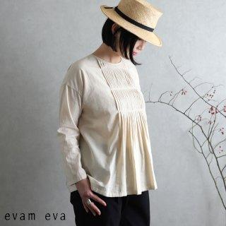 evam eva(エヴァム エヴァ)【2020ss新作】 ファインプリーツプルオーバー / fine pleats pullover ecru(11) E201T073