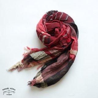 【1点のみゆうパケット可】tamaki niime(タマキ ニイメ)玉木新雌 roots shawl middle 45 / ルーツショール コットン 100% ミドル