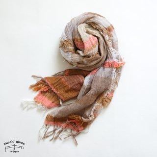 【1点のみゆうパケット可】tamaki niime(タマキ ニイメ)玉木新雌 roots shawl middle 35 / ルーツショール コットン 100% ミドル