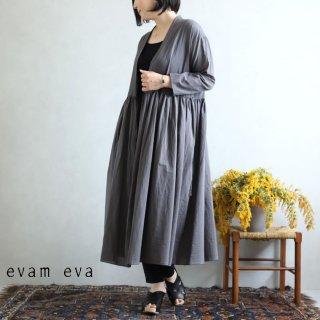 evam eva(エヴァム エヴァ)【2020ss新作】ギャザーローブ / gather robe maroon gray(76)  E201T113
