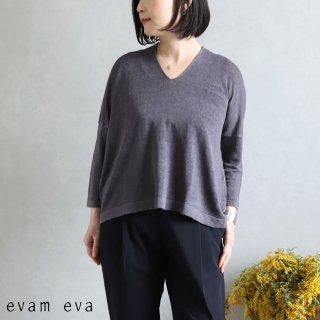 evam eva(エヴァム エヴァ)【2020ss新作】 リネンキュプラプルオーバー / linen cupro pullover dove gray(84) E201K105