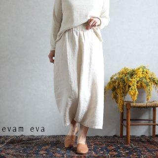 evam eva(エヴァム エヴァ) vie【2020ss新作】イージー サルエルパンツ / easy sarrouel pants antique white(04)  V201T938
