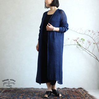 tamaki niime(タマキ ニイメ) 玉木新雌 only one あさ CA knit LONG 04 麻カニット