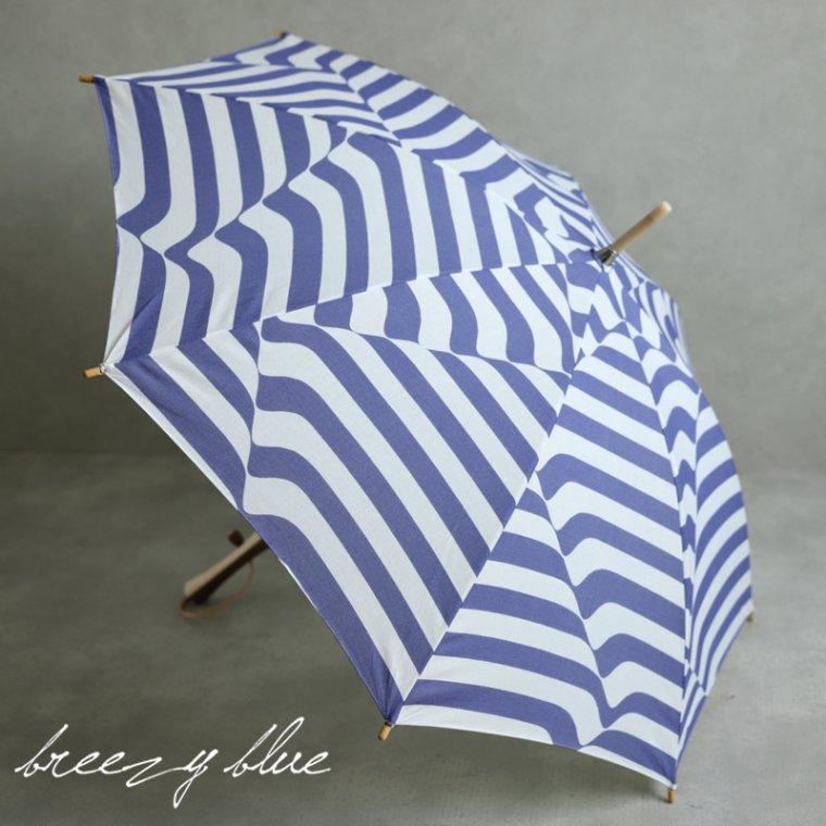 breezy blue ブリージーブルー バイカラー捺染パラソル 晴雨兼用 日傘