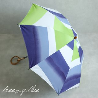 breezy blue ブリージーブルー 晴雨兼用 UV加工 注染 折りたたみ日傘 satsuki