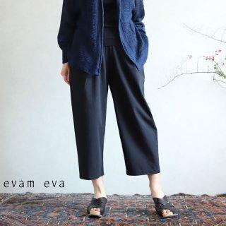 evam eva(エヴァム エヴァ) 【2020ss新作】コットンタック イージーパンツ / cotton tuck easy pants sumi(98)  E201T138