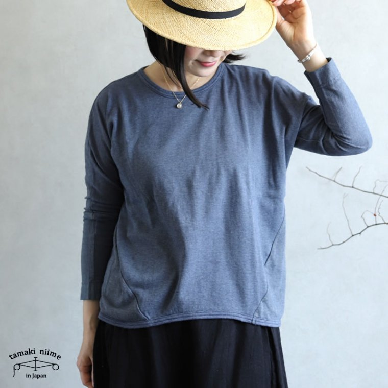 tamaki niime(タマキ ニイメ) 玉木新雌 maru t LONG SLEEVES cotton 100%