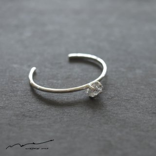 accessories mau (アクセサリー マウ)  herkimer silver bangle(中)