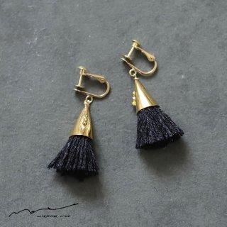 accessories mau (アクセサリー マウ)  つつっぽ brass イヤリング(黒)
