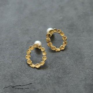 accessories mau (アクセサリー マウ)  まるまる brass ピアス