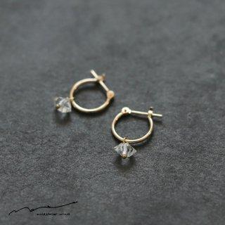 accessories mau (アクセサリー マウ)  ハーキマーU型 ピアス