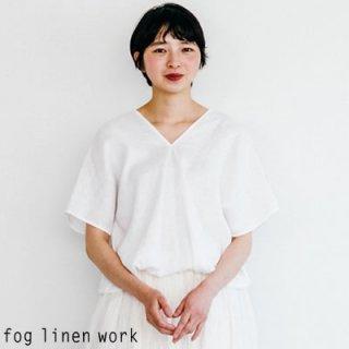 fog linen work(フォグリネンワーク) 【2020ss新作】アブリル トップ ホワイト / ABRIL TOP WHITE リトアニア リネン LWA200-19