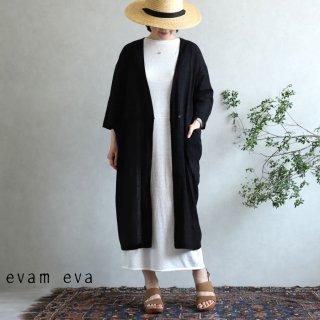 evam eva(エヴァム エヴァ)【2020ss新作】 カットドビー ローブ / cutdobby robe black(90)  E201T166