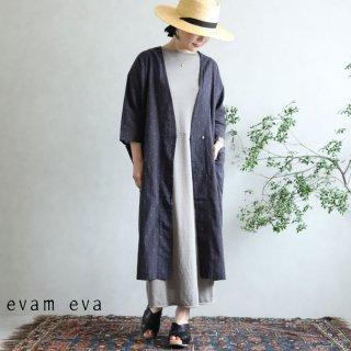 evam eva(エヴァム エヴァ)【2020ss新作】 カットドビー ローブ / cutdobby robe stone gray(86)  E201T166