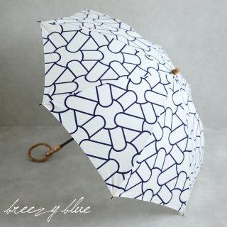 breezy blue ブリージーブルー 晴雨兼用 UV加工 注染 折りたたみ日傘 bunshi