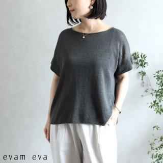 evam eva(エヴァム エヴァ)【2020ss新作】 リネンリリー プルオーバー / linen lily pullover stone gray(86)  E201K158