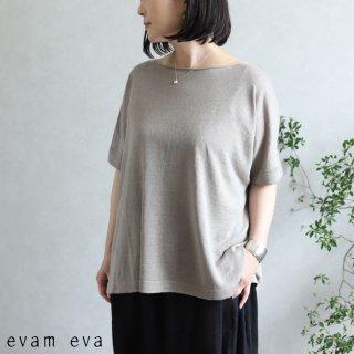 evam eva(エヴァム エヴァ)【2020ss新作】 リネンシルク プルオーバー / linen silk pullover grege(14)  E201K167