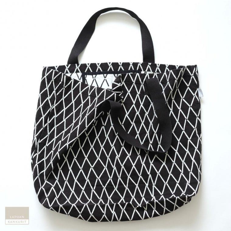 LAPUAN KANKURIT ラプアン・カンクリ ESKIMO bag white-black / バッグ ブラック