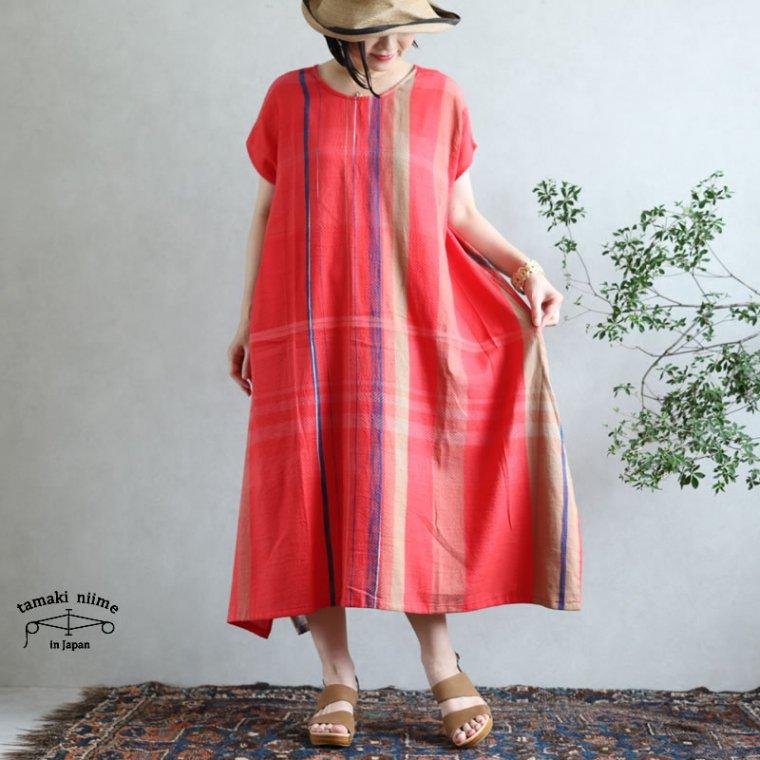tamaki niime 玉木新雌 only one fuwa-T long 丸首(前後無し) cotton 100%