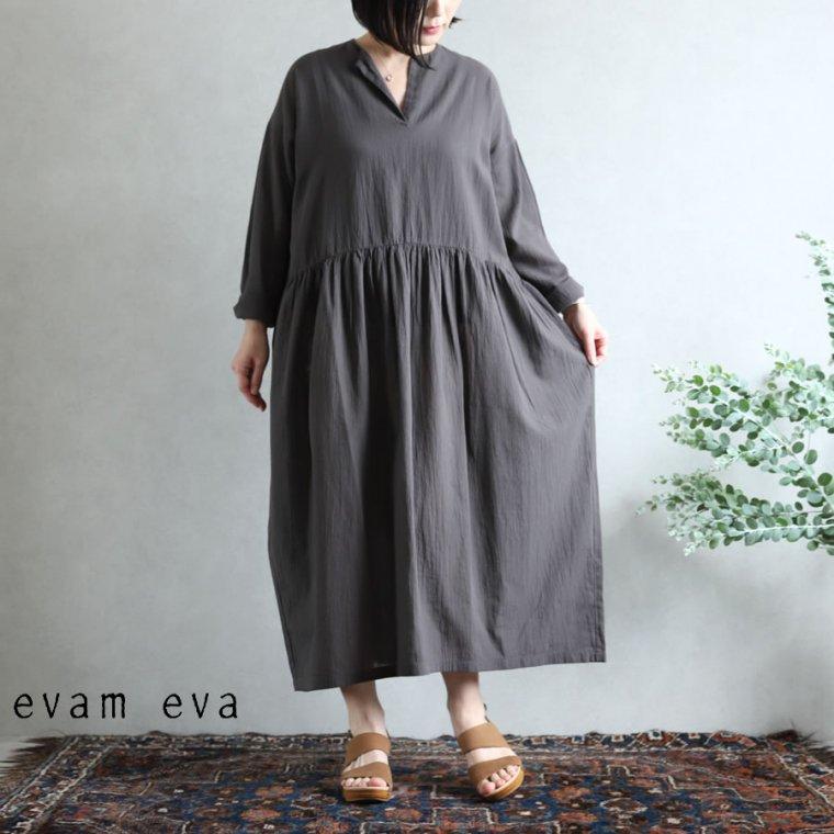 evam eva(エヴァム エヴァ)vie【2020aw新作】コットンジョーゼットワンピース
