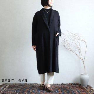 evam eva(エヴァム エヴァ) 【2020aw新作】シルク リネン ジャケット / silk linen jacket black(90)  E203T024