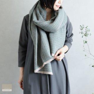 LAPUAN KANKURIT ラプアン・カンクリ【2020AW新作】KOLI merino wool scarf  beige-green コリスカーフ