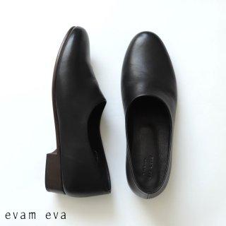evam eva(エヴァム エヴァ)【2020aw新作】 レザースリッポン / leather slipon black(90) E203Z084