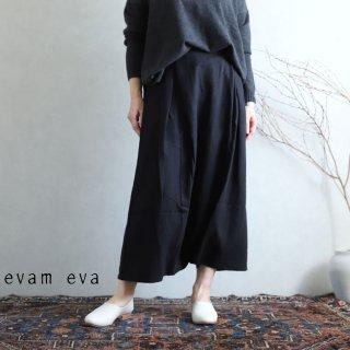 evam eva(エヴァム エヴァ) vie【2020aw新作】サイドタック サルエルパンツ / side tuck sarrouel pants black(90)  V203T920
