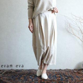 evam eva(エヴァム エヴァ) vie【2020aw新作】サイドタック サルエルパンツ / side tuck sarrouel pants antique white(04) V203T920