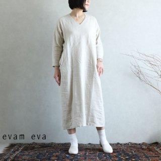evam eva(エヴァム エヴァ) vie【2020aw新作】ライジングリネンドルマンワンピース / dolman one-piece antique white(04)V203T918