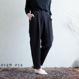 evam eva(エヴァム エヴァ) 【2020aw新作】コットンナロー タックパンツ / cotton narrow tuck pants black(90)  E203T071