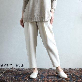 evam eva(エヴァム エヴァ) 【2020aw新作】コットンナロー タックパンツ / cotton narrow tuck pants ecru(11)  E203T071
