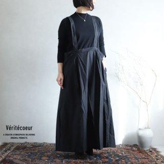 Veritecoeur(ヴェリテクール)【2020AW新作】サスペンダースカート BLACK / VC-2184
